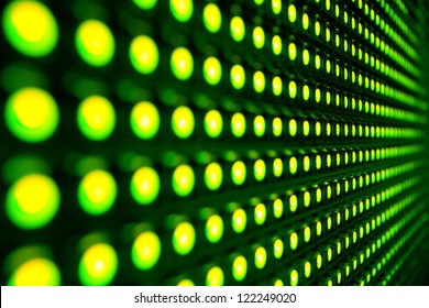 Green stretch of LED lights