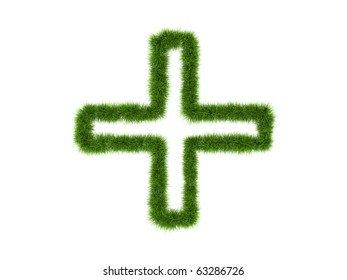 Green symbol made of grass