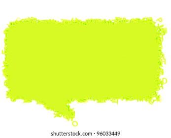Green Talk speech bubble on white