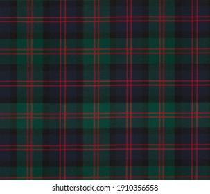 green tartan checkered fabric pattern