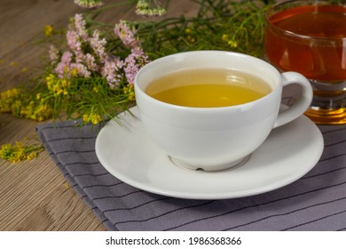 Green tea with herbs and honey