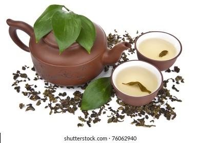 green tea isolated