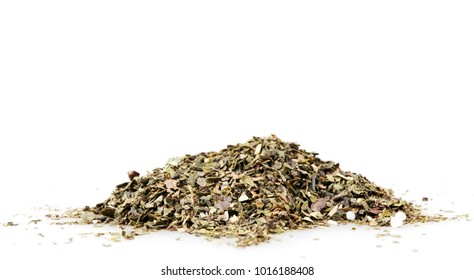 Green tea isolated on white background.