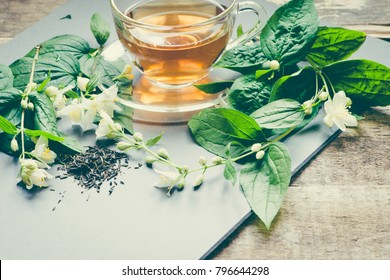 Green tea with jasmine/toned photo