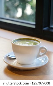 Green tea latte. Latte coffee cup. A latte is a coffee drink made with espresso and steamed milk. The term as used in English is a shortened form of the Italian caffè latte, caffelatte.
