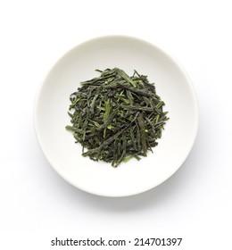 Green tea leaves , Japanese tea , Sencha, Ryokucha