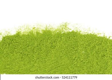 green tea matcha on a white background