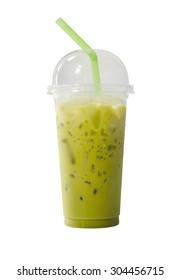 Green Tea Milk on isolated