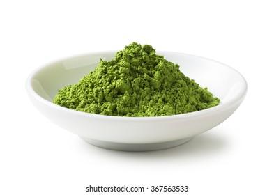 Green Tea powder on the plate