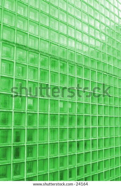 A green tinted clear glas wall texture pattern image.