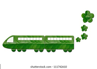 Green Train With For Eco Concept