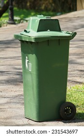 Green trashcan