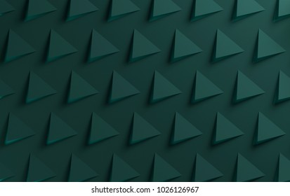 Green triangular two color textured background