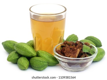 Green Triphala fruits with extract of Indian subcontinent