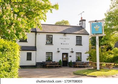 Green Tye, Much Hadham, Hertfordshire. UK. May 18th 2020. The Price of Wales public house closed during the Coronavirus pandemic.
