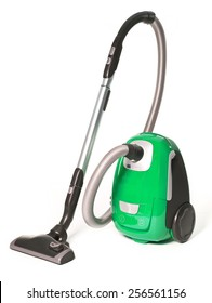 Green Vacuum Cleaner isolated on white background
