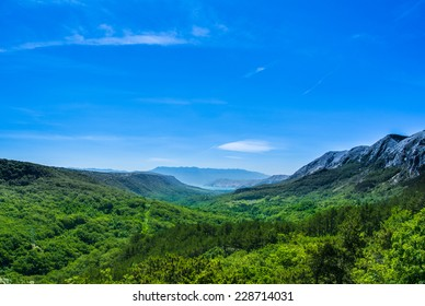 Green valley in Croatia, Krk
