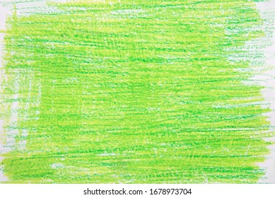 green vax color  crayon on white paper background texture