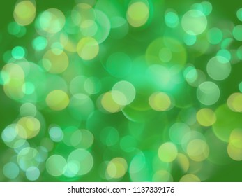 green vibrant beautiful bright blurred lights glowing abstract background
