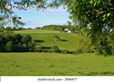 Green Wales (typical british countryside)