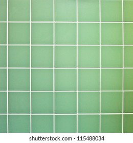 Green wall tiles as a background image