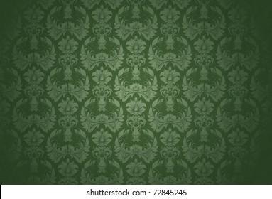 Green Wallpaper Pattern Bitmap Copy