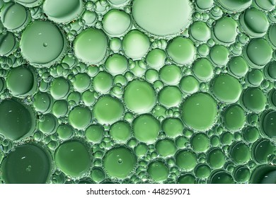Green water bubbles abstract light