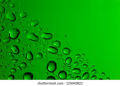 green  water drop back ground