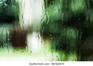 Green Water Drops Texture