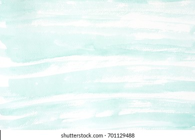 Green watercolor texture on white paper background