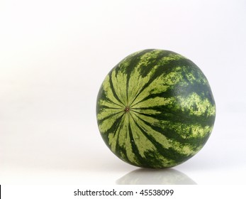 Green watermelon.