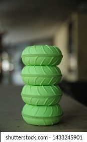 green wheel rc car toys texture blur background close up photo