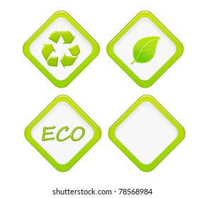 green and white nature sign isolate over white background