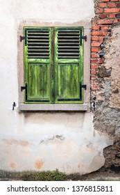 Green Window pane