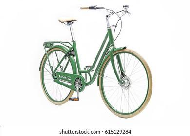 Green Women City Bike in Perspective View