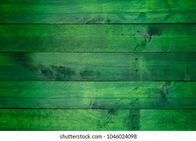 Green wood background in used look.