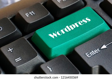 Green  Wordpress keyboard button