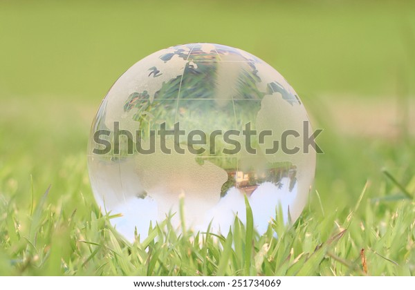 green world in grass background