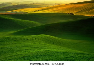 Green and yellow in the actual dream landscape