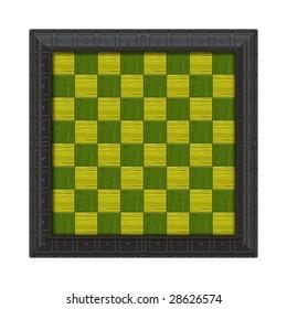 green yellow chess board