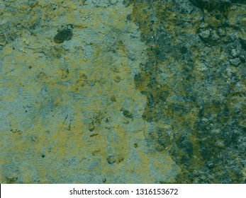 Green and yellow concrete grunge background
