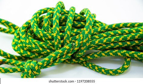 green and yellow textured rope