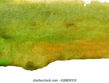 green and yellow watercolor background