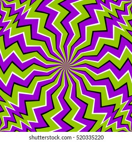 Green zigzags (spin illusion)