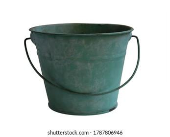 Green zinc planter for gardening