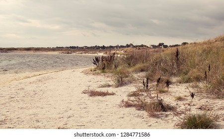 Greena (Denmark) - Baltic Sea beach with clouds and waves