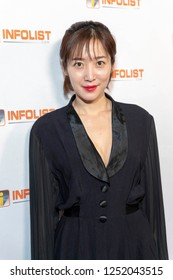 Greena Park attends INFOList.com Red Carpet Re-Launch Party & Holiday Extravaganza! at SKYBAR at the Mondrian Hotel, Los Angeles, California on December 5th, 2018