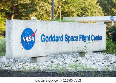 GREENBELT, MD / USA - JUNE 30, 2018:  Goddard Space Flight Center is NASA's oldest space center and is named for the father of modern rocketry, Dr. Robert H. Goddard.