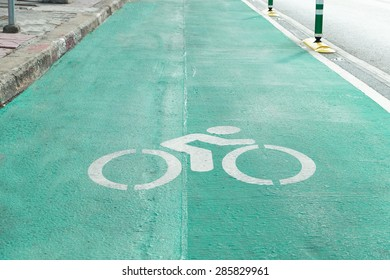 GreenBike lane sign