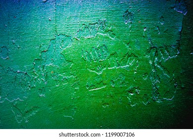 green-blue artsy abstract wall background texture